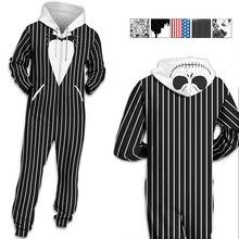 Centuryestar Hooded Onesie Adults Men Pijama Hombre Jumpsuit Mens Pajamas Winter Zipper Black White Clothes Pyjama