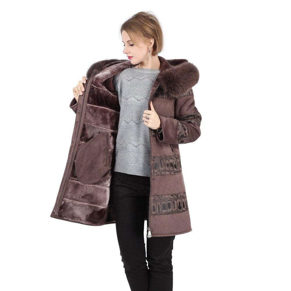 De Fox Hiver Faux À Casual Fur Chaud Pour Manteau Avec Capuche Capuchon Femmes Trim Femme Slim Fit Élégant Fourrure Réel Fqr8wFpxW