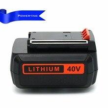Alta capacidade 40 v 2ah bateria li-ion Bateria de lítio de Substituição para Black Decker conjuntos 2 pcs