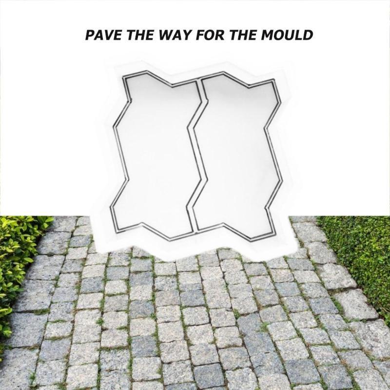 Concrete Pavement Mold DIY Path Maker Paving Cement Brick Stone Road Mould