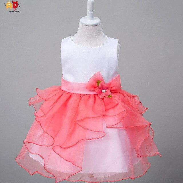 c2d1557b2 Ad bebé Niñas Festival de cumpleaños fiesta Vestidos hermosa Vestidos para  bebé niños ropa bola Pageant