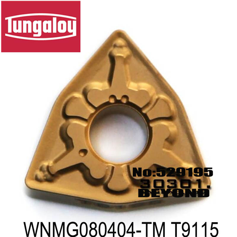 10pcs NEW Tungaloy WNMG080404-TM T9115 CNC Carbide Inserts