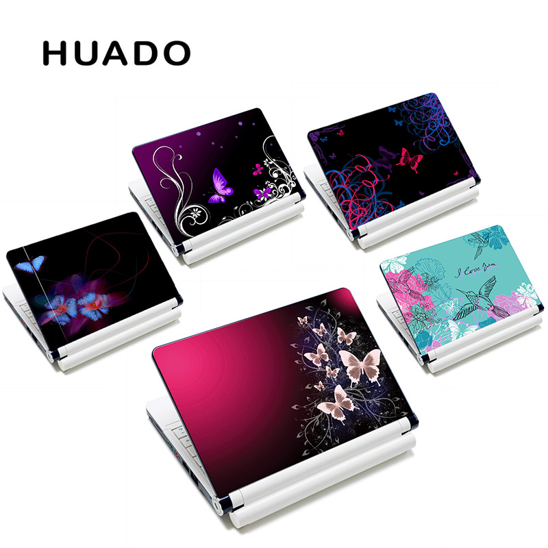 Butterfly Laptop bőr notebook számítógép bőr tok 10 10 13 15 15,6 hüvelykes Mac Pro / Acer számítógépes matricához