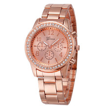 Women Fashion Watch 2017 New Elegant Geneva Watch Ladies Casual Crystal Bracelet Watches Relojes Mujer 2017 Montre Femme#77