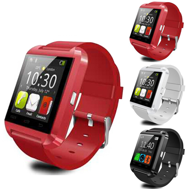Bluetooth smart watch u8 reloj u smartwatch para iphone 4/4s/5/5s/6 y samsung s4/note/s6 htc android teléfono smartwatch
