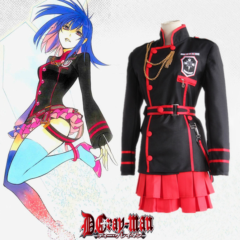 Japoneze Anime D.Gray-man Lenalee Lee Cosplay Costume Transporti i Ri - Kostumet