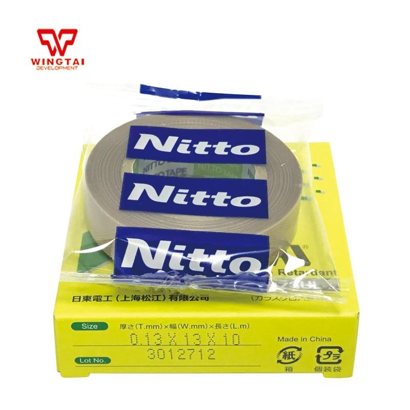 60Rolls/Lot Nitto Tape PTFE T0.13mm*W13mm*L10m Heat Resistance Japan Nitto DENKO Tape 973UL S
