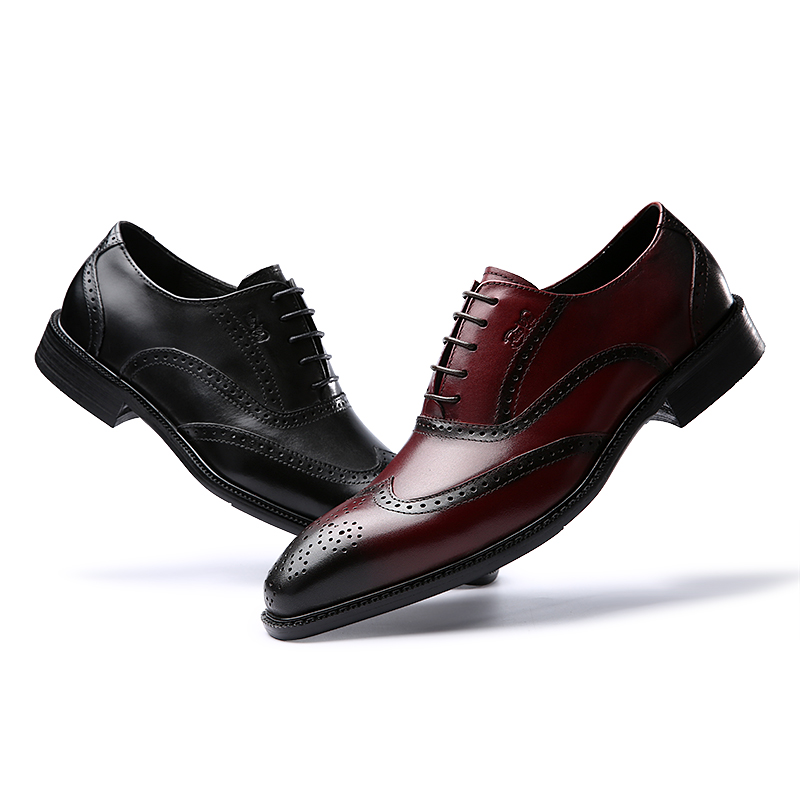 Nas Sapatos Up Couro Do Chu Brogue Formal Luxo Black Pontas Escritório Clássico Homens Vestido Casamento Com Festa Felix Borgonha Dos Asas Oxford Lace Genuíno burgundy Das caXW1wxB