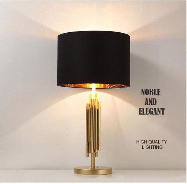 noble de luxe tissu abat jour m taux table lampe de chevet lampe chambre lampe dans led lampes. Black Bedroom Furniture Sets. Home Design Ideas