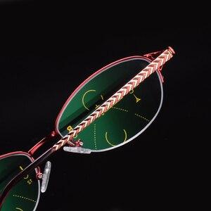 Image 2 - Lntelligence Progressive Multifocal Commercial Reading Glasses Bifocal Red Womens Prescription glasses full set Read 501