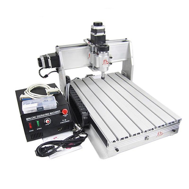 Mini CNC lathe 3040 T-DJ cnc milling machine wood PCB aluminum carving 1