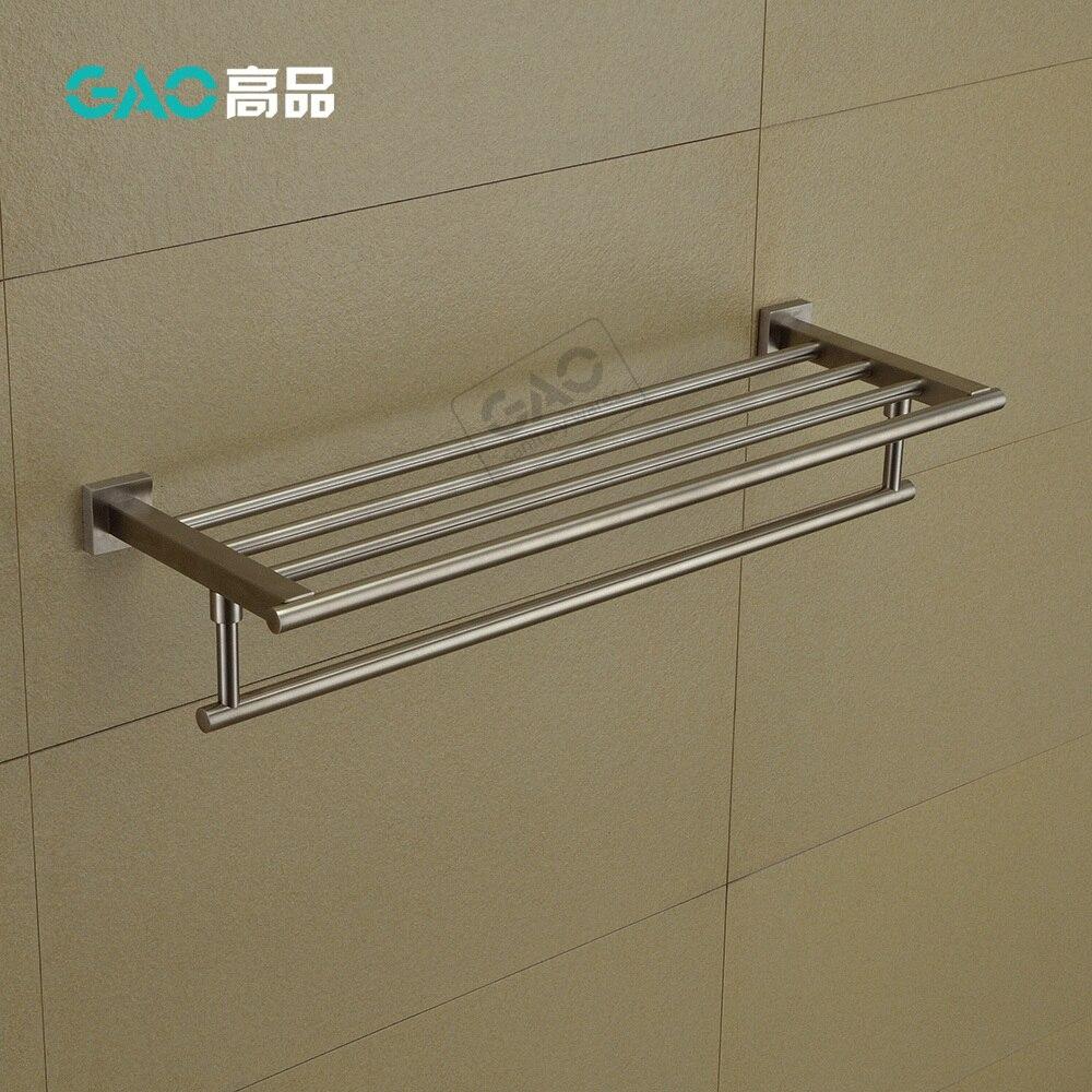 ФОТО Free Shipping Towel Bar,Towel Holder,SUS 304 Made,Nickel Brush, Bathroom Accessories,Towel Rack, 60CM Length, Wholesale