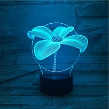 Four Leaf Clover Led Night Light Touch Sensor RBG Novelty Lighting Child Kids Baby Gift Gadget Table 3D Lamp Decor Dropshipping