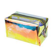 Hologram Holographic Cosmetic Pencil Bag Zipper Pouch Handbag Makeup Laser Bag Storage