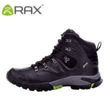 RAX  Waterproof Climbing Boots Woman Hiking Shoes  Leather Outdoor Boots for Mountain with Event Waterproof Socks Lining