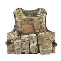 5 Colors Outdoor Military Tactical Vest Body Armor CS Vest Hunting Camouflage Tank Tops