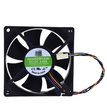 Para YM DA08025B12UH DC12V 0.50A 80*80*25MM ventilador de refrigeración 4pin enfriador procesador ventilador de disipador térmico Ventiladores y refrigeración    -