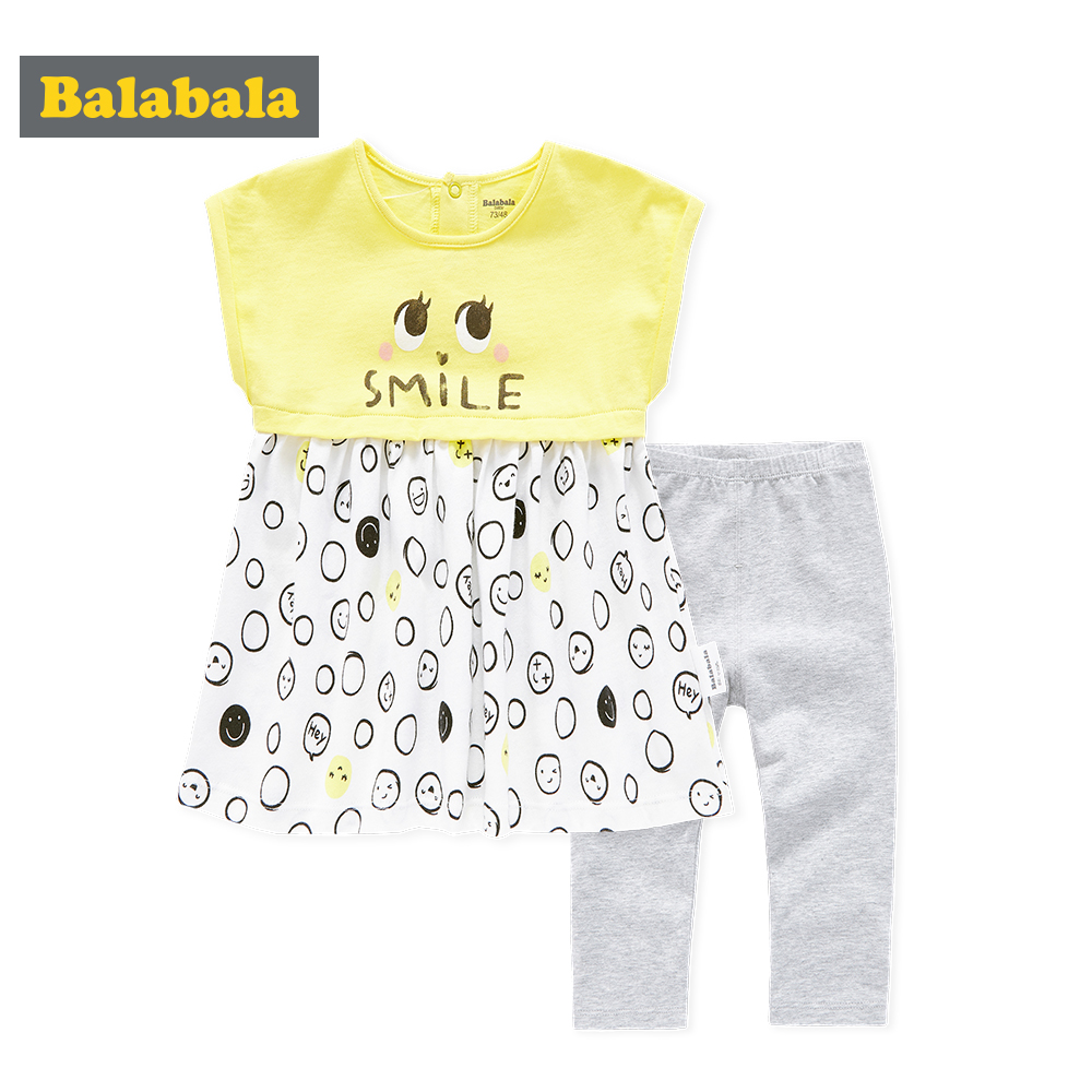 Balabala 2018 Baby Girl Clothes Sets Baby Infant Outfits Suits 2Pcs/lot Girl Clothes 100% Cotton Newborn Clothing Sets Baby girl baby girl clothes sets infant clothing suits toddler girl birthday outfits tutu one year set baby product gift for newborn bebes