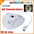 48 V 802.3af PoE IP câmera olho de peixe 360 grau panorâmica câmera IP PoE 5MP 1.7 MM 1/2. 8 '' SONY IMX222 HD 1080 P IP Cam