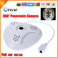 48V 802.3af PoE IP Camera Fish Eye 360 Degree Panoramic Camera IP PoE 5MP 1.7MM Lens 1/2.8'' SONY IMX222 Full HD 1080P IP Cam