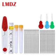 LMDZ 35Pcs/Set Large Eye Blunt Yarn Stitching Needles Stainl