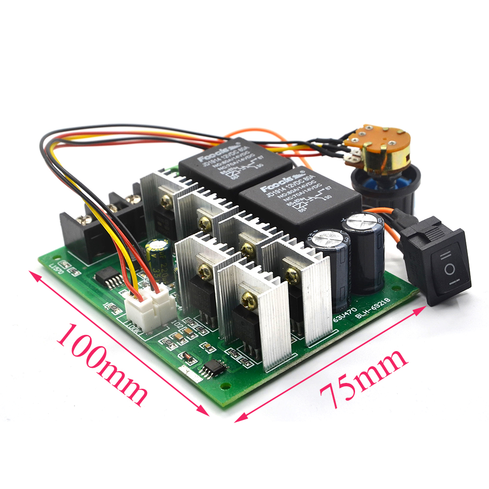 Dc Speed Motor Controller Forward Reverse 10 50v 40a 60a For Brush Is The Bidirectional Circuit Which Allows And Reversing Control 0 100