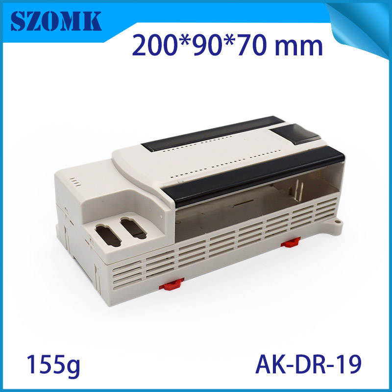 4 pcs/lot plastic din rail electrical box abs wall mount housing case for led gps szomk 200x90x70 mm junction box housing цилиндр cdj2b16 50 16 50 air cylinder