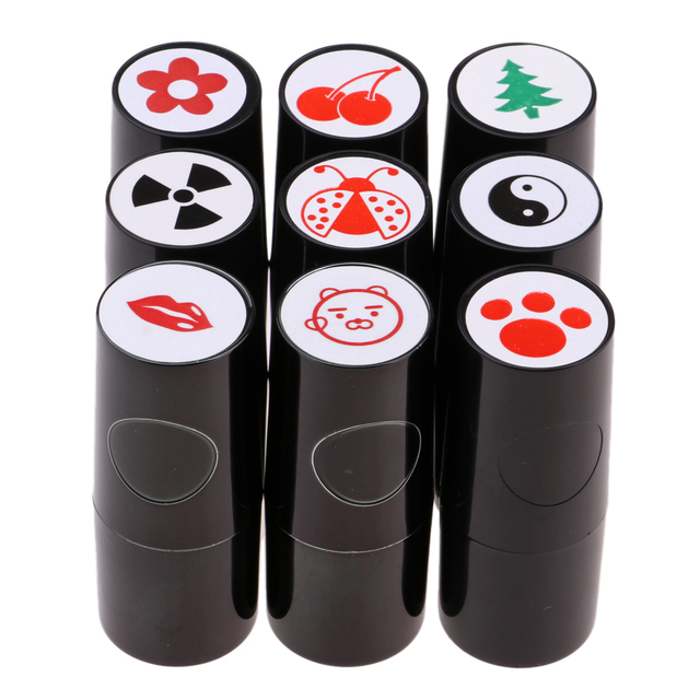 Bright Golf Ball Stamp Stampers Markers Quick Dry Long Lasting and Bright Colorfast for Golf Club Accessories