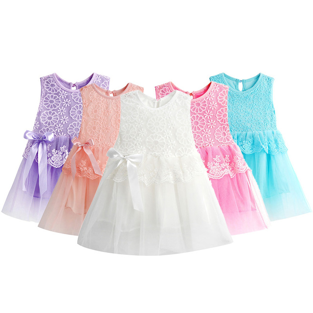 5530c5814 Hot New Infant Baby Girl Tutu Dress vestidos Kids Cute Lace Flower ...