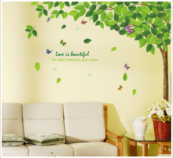 Free Shipping living room bedroom TV background wall stickers large ...