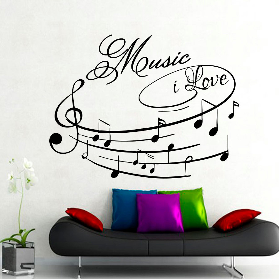 music room designs promotion shop for promotional music room music i love wall decals removable art design home decor wall sticker musical note for living room