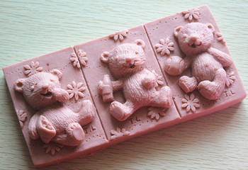 Silicone mold Baby Bear shape Handmade soap Clay mold Fondant cake mould Baking mold DIY tools