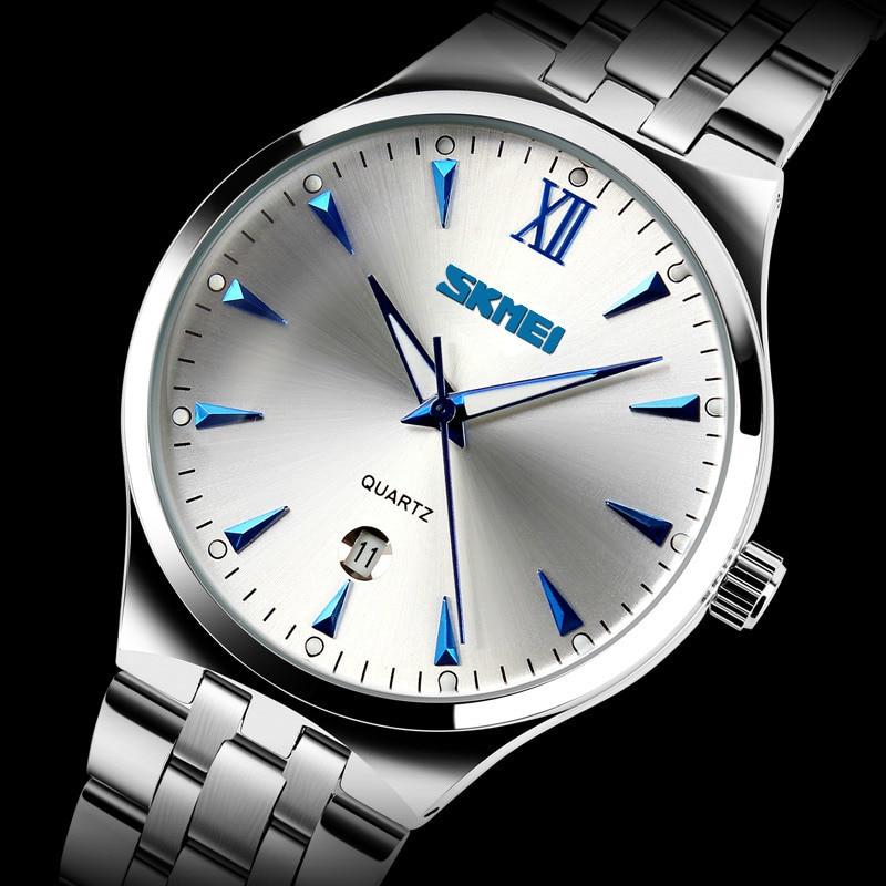 SKMEI Quartz Watch Men Watches Luxury Brand Sport Full Steel Casual Business Wrist Watch Clock Male Waterproof Relogio Masculino