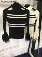 FOMOLAYIME Осень зимний свитер Для женщин пуловер с длинными рукавами Для женщин Основные свитера Для женщин 2018 корейский стиль трикотажные топ
