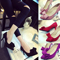 2016 new autumn shoes stilettos red pointed shoes ladies wedding shoes Asakuchi High heels