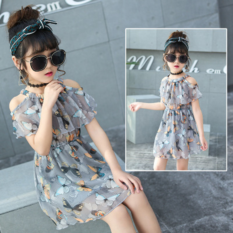 2017 New Girls Dress Summer Dresses Sarafan Floral Sundress Clothes Children Baby Costume Kids Clothing For Girls 2017 new fashion brand summer kids clothes children clothing girls dress baby kids princess dress summer denim holiday sundress