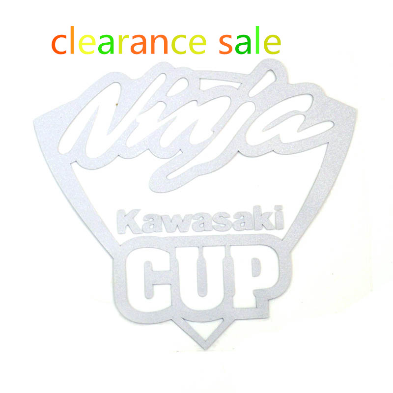 free shipping fashion cup letter waterproof car window vinyl stickers monochromatic white reflective car stickers cup letter