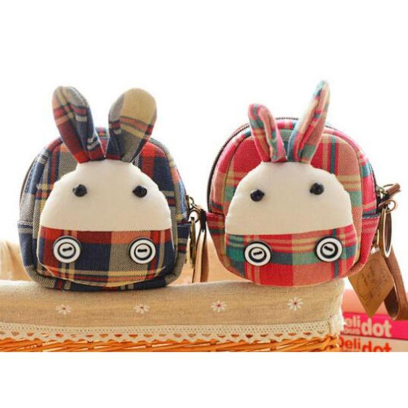 Kawaii 3D Cartoon Coin Purses Canvas Animals Frog Rabbit Ladies Cute Coin Pouch Change Money Coin Case Girl Zipper Kids Wallets1