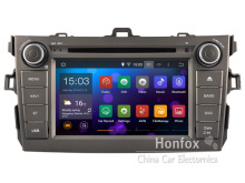 Android 4.4.4 Headunit for Toyota Corolla 2007-2012 with Capactive HD 1024X600 Screen Navigation DVD GPS DVR WIFI Mirror link