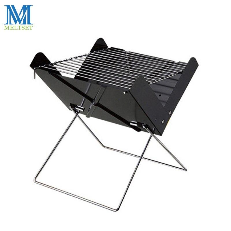 Barbecue à charbon de bois pliable Portable Barbecue Barbecue amovible pour l'extérieur facile à assembler