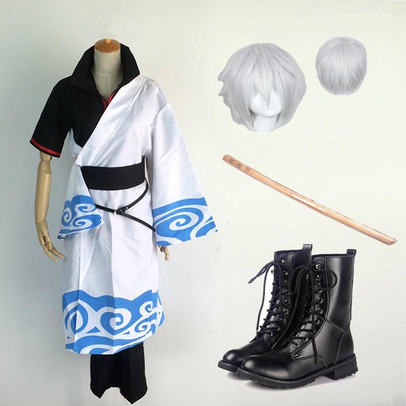 Cosplay for GinTama Sakata Gintoki Uniform with Wigs Cudgel Dress - Կարնավալային հագուստները