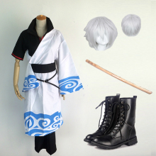 Cosplay for GinTama Sakata Gintoki Uniformed with Parks Cudgel Dress Jaqueta Masculina Vestidos Anime Halloween Costume Adult Men