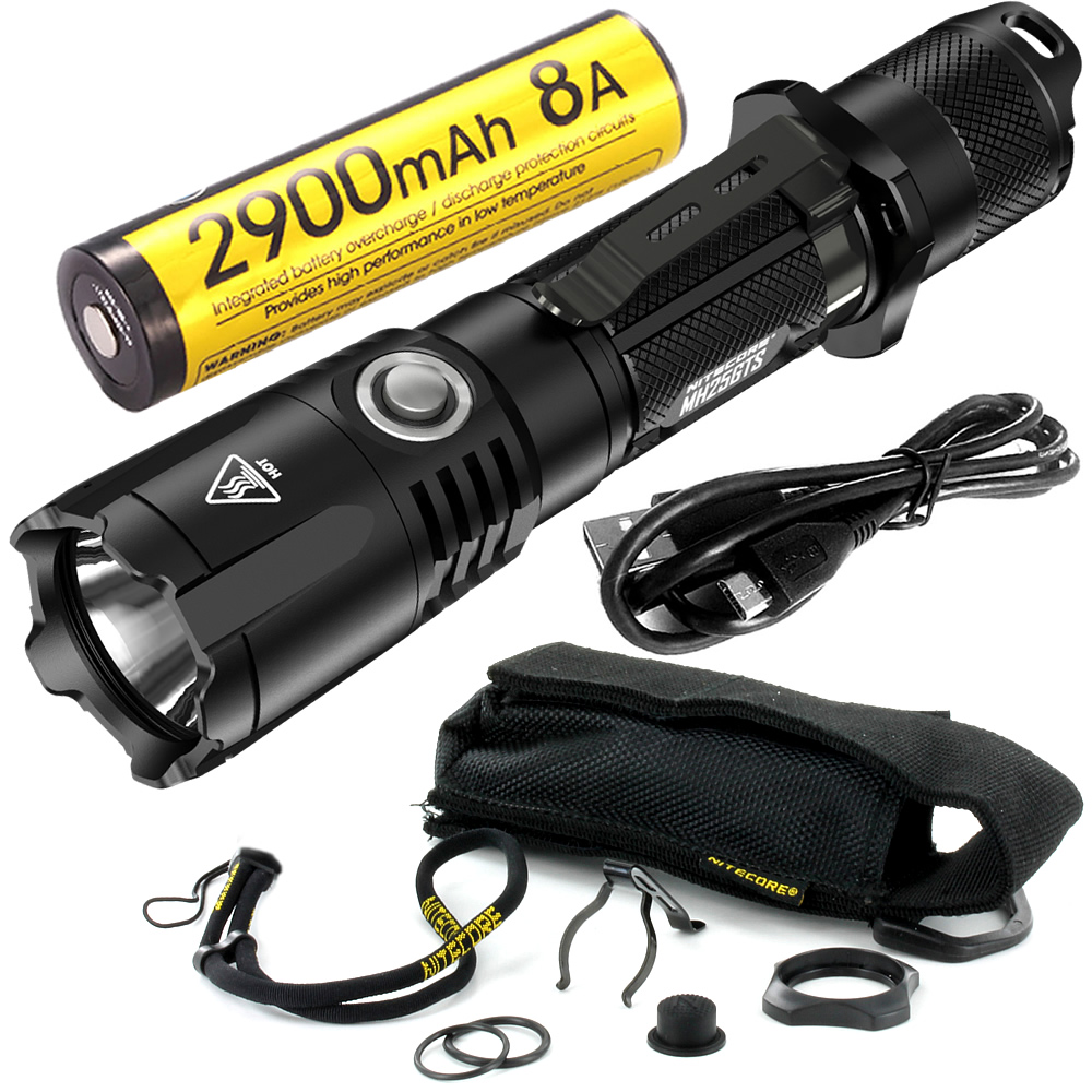 10%OFF NITECORE MH25GTS NL1829LTHP Low Temperature Battery 1800LM CREE XHP35 LED Waterproof High Performance Tactical Flashlight