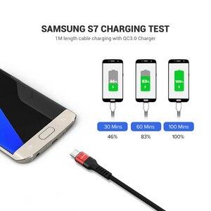 Image 4 - Qgeemマイクロusbケーブル2.4Aナイロン高速充電usbデータケーブルサムスンxiaomi lgタブレットandroid携帯電話usb充電ケーブル