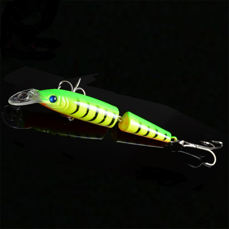 Minnow Fishing Lure Lifelike Laser 2 Sections 10CM 9.4G Pesca Hooks Fish Wobbler Tackle Crankbait Artificial Hard Bait FA-270 tsurinoya fishing lure minnow hard bait swimbait mini fish lures crankbait fishing tackle with 2 hook 42mm 3d eyes 10 colors set
