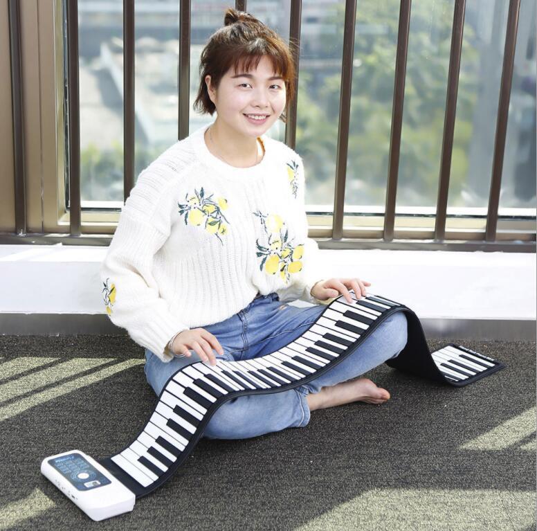 2019 main rouleau piano électronique 88 touches épaissie clavier débutant main rouleau clavier main rouleau piano