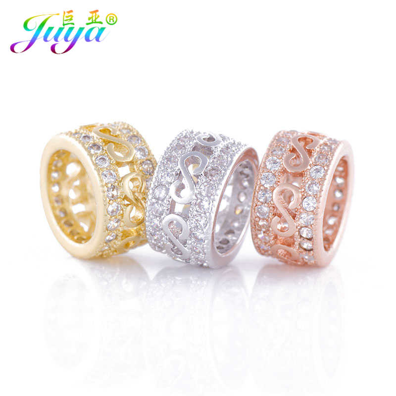 Detail Feedback Questions about Beading Jewelry Findings Pave Zircon Big  Hole Infinity Metal Charm Beads Accessories For Women Men Natural Stones  Jewelry ... d91717b8201d