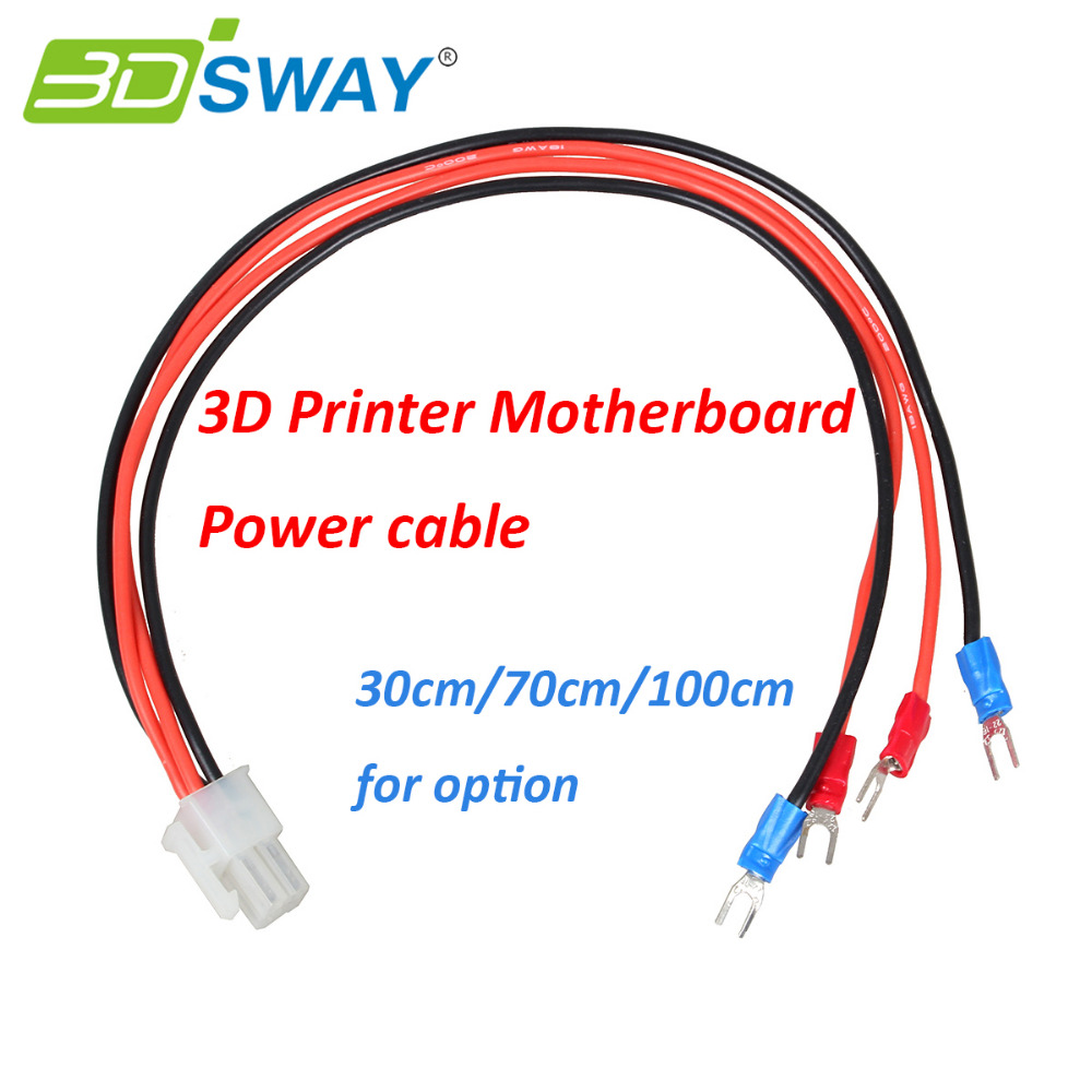 Parts Of Electrical Cables : Dsway d printer parts power cable heated bed line hot