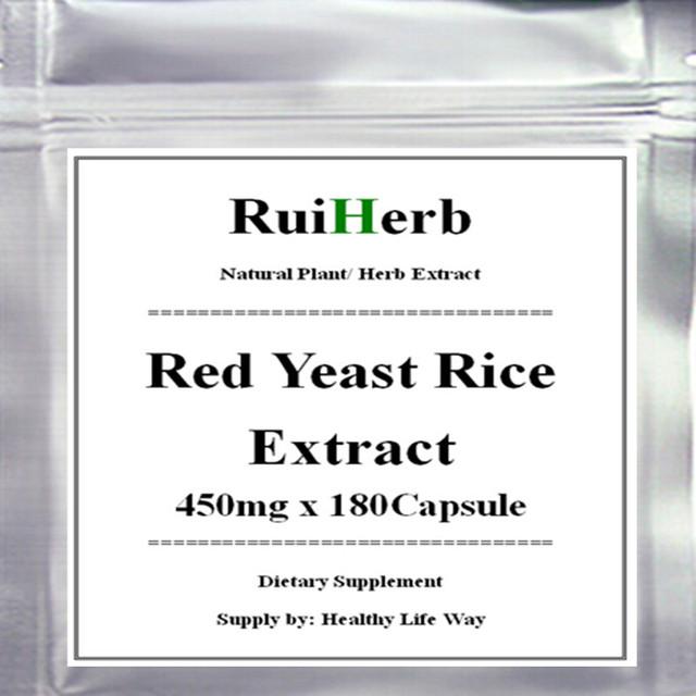1 Pacote de Arroz Vermelho do Fermento Extrato Da Cápsula 450 mg x 180 pcs-Apoia a Saúde Cardiovascular e Imunológico
