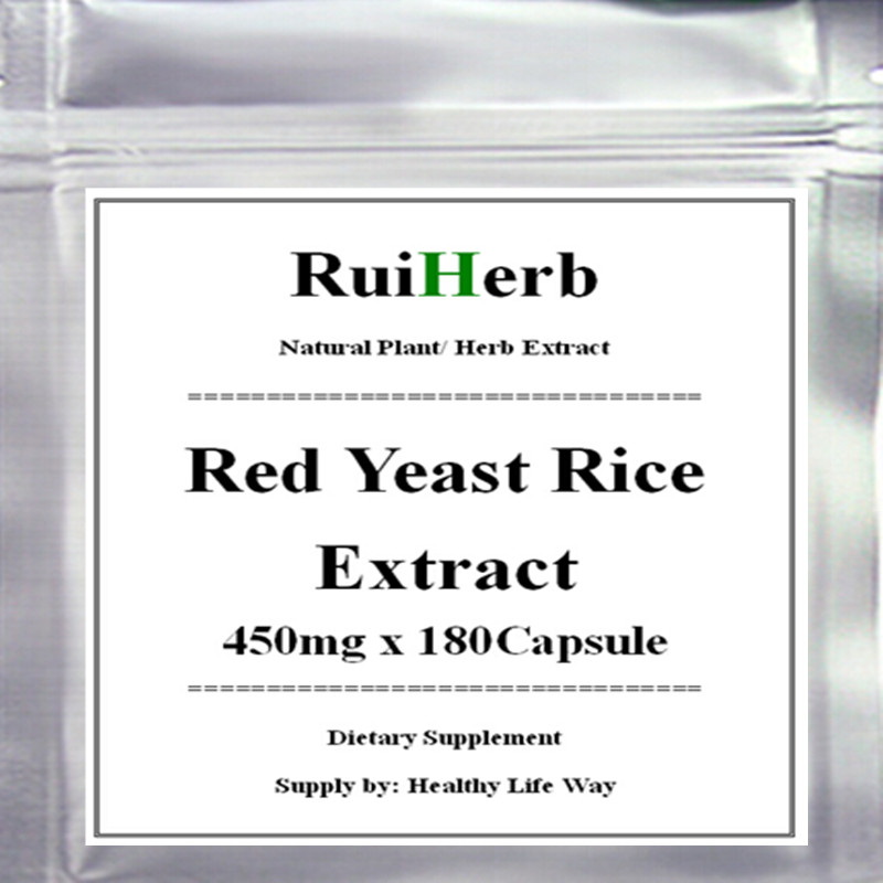 ФОТО 1Pack Red Yeast Rice Extract Capsule 450mg x180pcs -Supports Cardiovascular and Immune Health